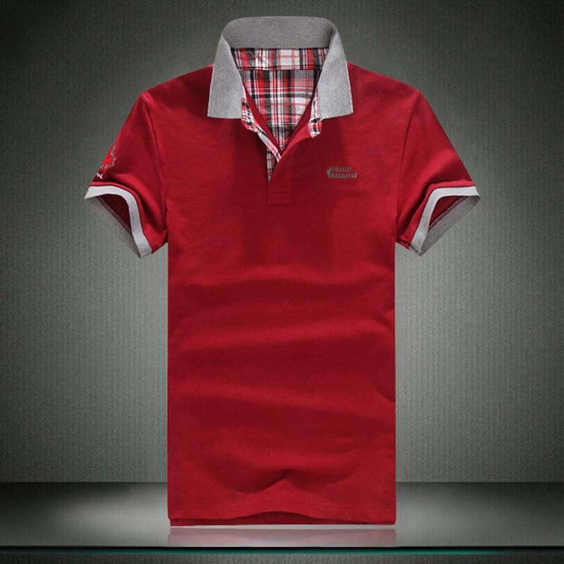 01efce13ee Mens Camisa Pólo Sólida Barnds 2017 Nova Camisa Polo Dos Homens Topos de  algodão Camisas Casual Camisa Polo Masculina Homme Polos de Moda Hombre
