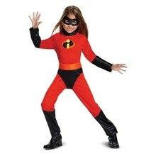Disfraz de Halloween para niña, disfraz de Mr. Incredible 2, traje de Cosplay de violeta para niña, vestido elegante de superhéroe