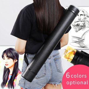 Image 3 - 6Colors Square Drawing Tube Adjustable Portable Drawing Large Capacity Strong Poster Tube For Artist Supplies