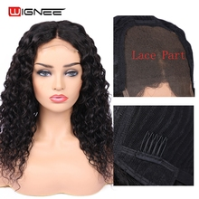 Wignee 4x4 Lace Closure Human Hair Wigs With Baby For Women Natural Hairline Peruvian Remy Water Wave