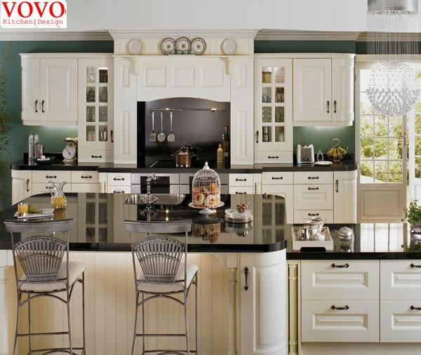 Style américain bois massif armoires de cuisine dans Armoires de ...
