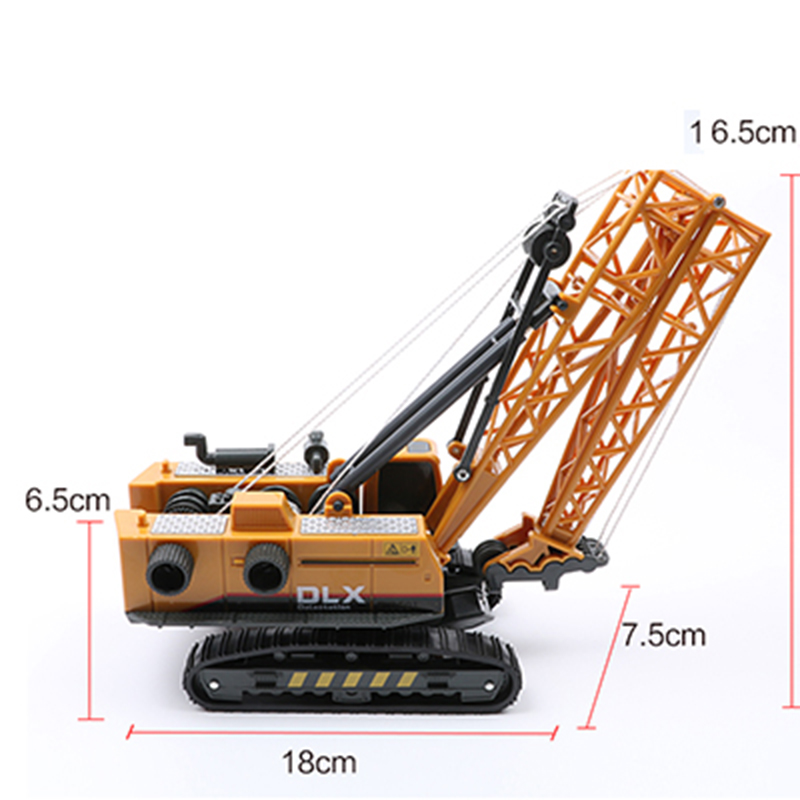 30cm Tower Crane Diecast Alloy Tower Crane Vehicle Model Truck Machine Model Toy Engineering Site Must Truck Toy Gifts F Kids
