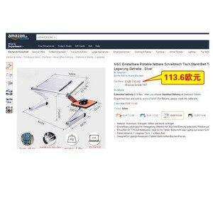 Image 5 - SUFEILE moda dizüstü bilgisayar masası 360 Derece Ayarlanabilir Katlanır Dizüstü Dizüstü PC Masası Masa MAVI Stand Taşınabilir Yatak Tepsisi D5