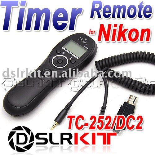 лучшая цена TC-252 Timer Remote Shutter Release for Nikon D7100 D7000 D5200 D5100 D3200 D3100 D600 D90
