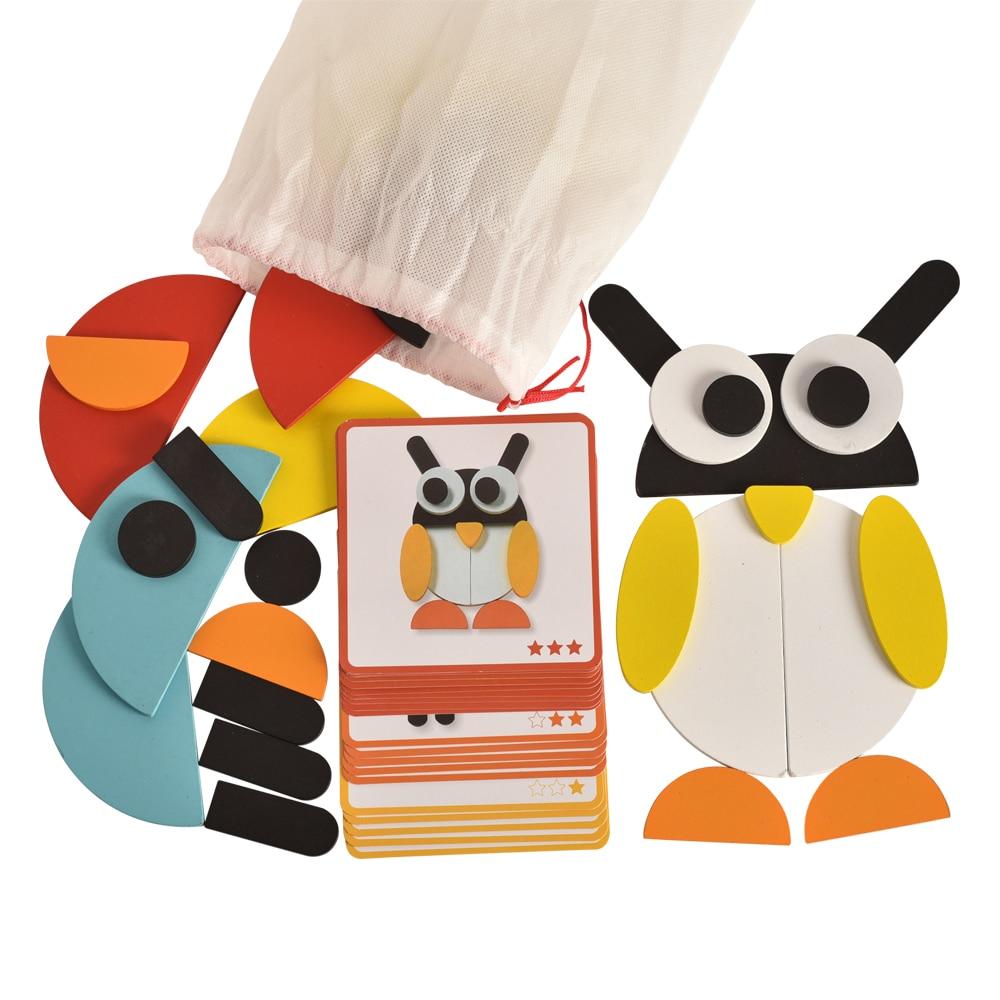 Montessori rompecabezas con 20 Idea-tarjetas para niños niño niñas y niños y niñas con conveniente bolsa