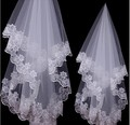 2016 Hot Sale Free Shipping In Stock High Quality Cheap 1.5m Wedding Veil White/Beige One Layer Lace Bridal Veils Free Shipping