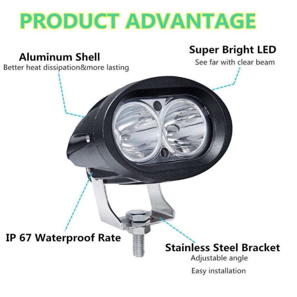 OVAL LED Work Light Bar Fog Lamp 12V 24V 20W CAR MOTORCYCLE TRUCK TRAILER PICKUP 4WD 4X4 ATV SUV SPOT FLOOD DRIVING HEADLIGHT