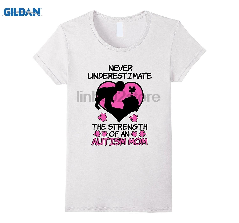Возьмите никогда не стоит недооценивать Силу аутизм мама футболка Горячая Для женщин футболка платье футболка
