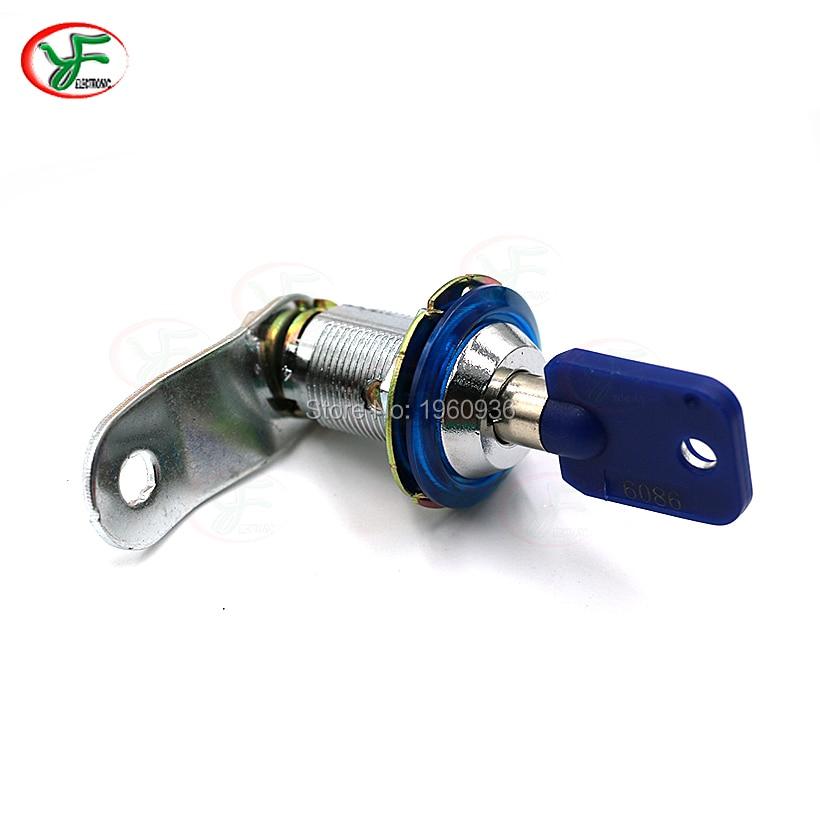 1PCS 6086# Plastic core 22mm & 31mm CAM LOCK door lock with key for jamma arcade pinball games machines(China)