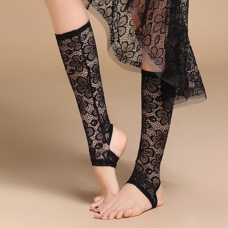 1 Pair Belly Dance Accessories Professional Dance Socks Foot Thong Dance Accessory Women Protector Lace Socking For Bellydance