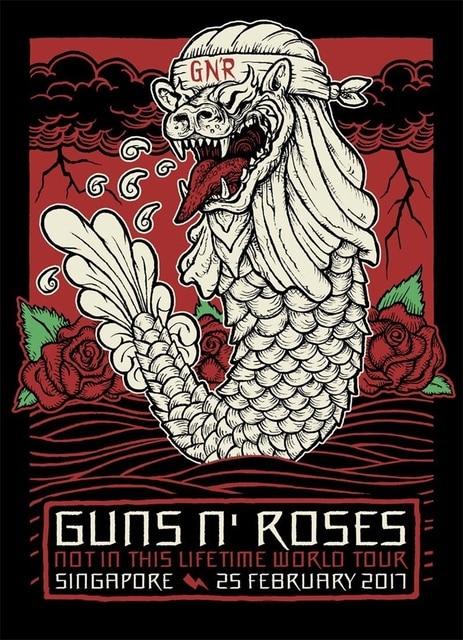 Metal Guns N Roses Rock Music Band Poster Vintage Retro Canvas Painting DIY Wall