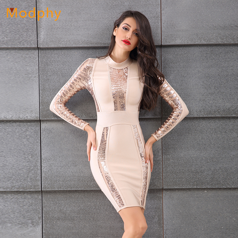 23c90fc227173 as Photo Partie Robes Longues Mode Chic Nouvelle Femmes Moulante Paillettes  Celebrity Solide À 2018 Mini Noir Sexy Bandage Manches ...