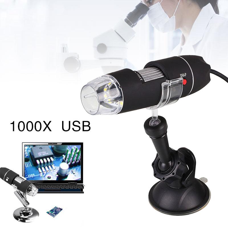 1000X USB Microscope Suction Electric Portable 8 LED Digital Endoscope Camera Professional