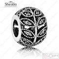 Encantos Authentic 925 Sterling Silver Pave Cz Espumante Deixa A Céu Aberto Da Natureza Bola Beads Marca de Jóias Se Encaixa Encantos Pulseiras Diy