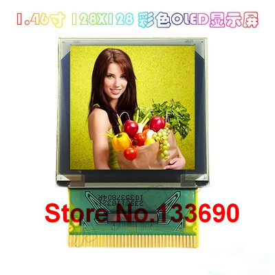 1.46 inch P23903 FULL color OLED Display 128*128 128x128 Pixels SPI IIC I2C parallel Interface SSD1351 Controller 37PIN XJ777-in LCD Modules from Electronic Components & Supplies