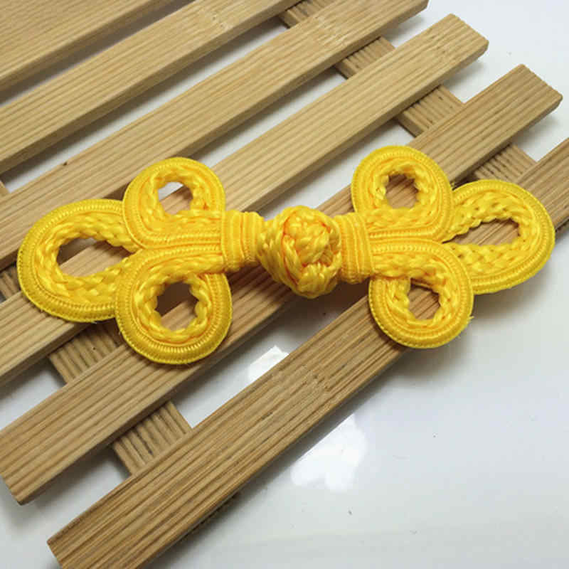 DoreenBeads 手作り中国ノットボタン葉パターン赤、黄、黒チャイナ唐スーツ縫製 DIY アクセサリー 8*6 センチメートル 1 ペア