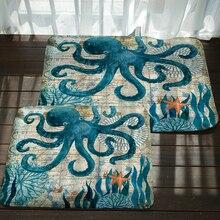 Anti-Slip Marine Life Pattern Door Mat Floor