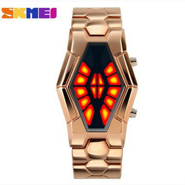 New strange snake table Wholesale Fashion Jewelry  Binary male girl students Watch For steel strip waterproof LED children Watch