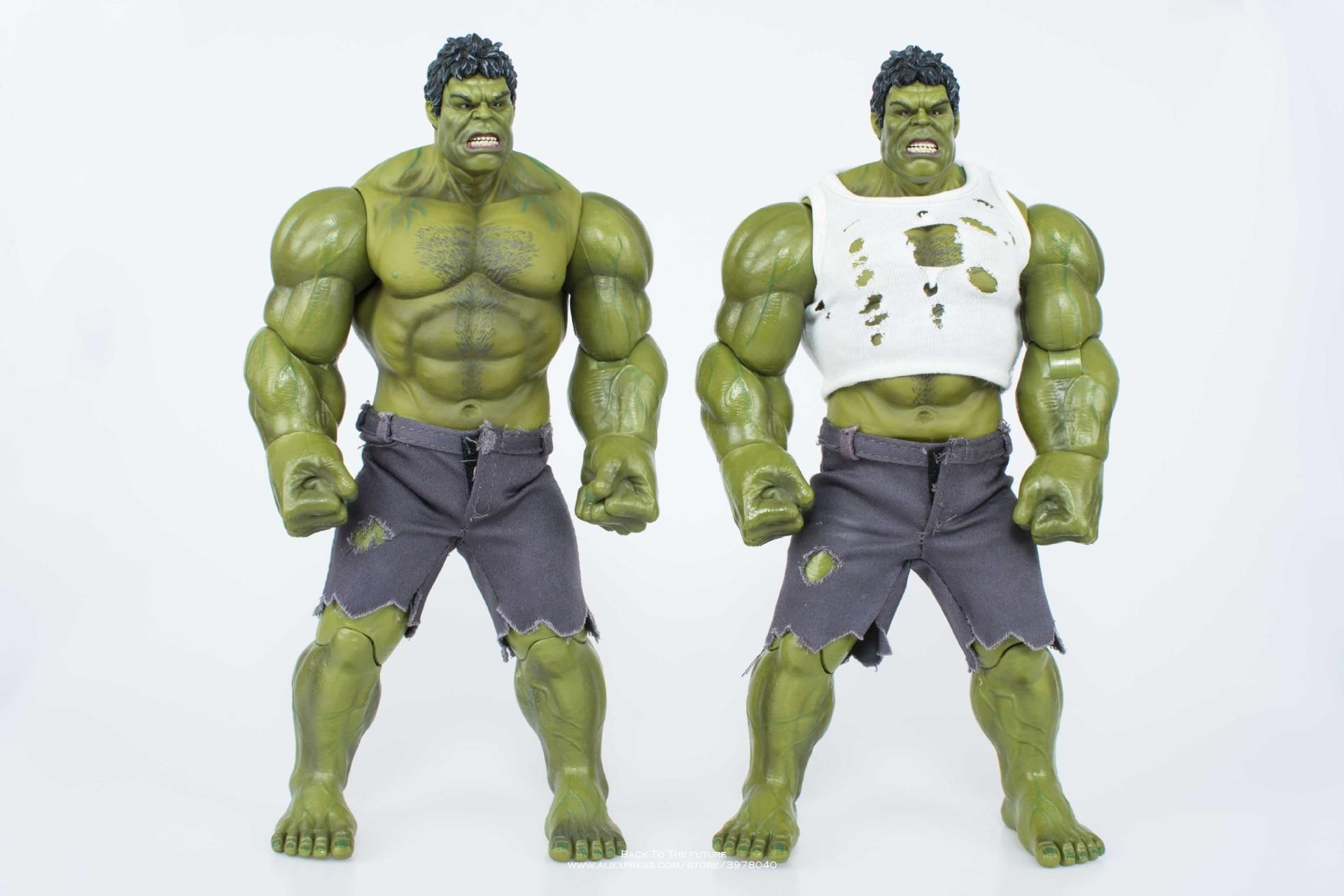 цена на Disney Marvel Avengers Super Hero Hulk 25cm Action Figure Anime Mini doll Decoration PVC Collection Figurine Toy model children