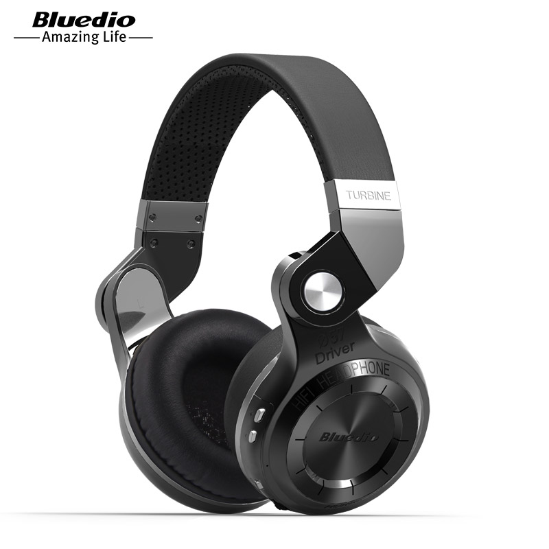 Bluedio T2S Hot Sale Top Fashion Microphone Headband Earphones Original Bluetooth Stereo Headphones Headset For Mp3