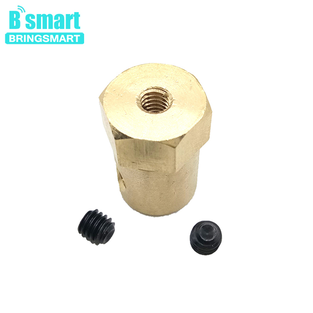 Brass Hexagonal Shape Of Shaft Coupling With Inner Diameter 3MM 4MM 6MM 8MM Use For Toy Smart Car Micro Robot DIY