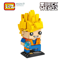 LOZ Dragon Ball Z Super Saiyan Son Goku Action Figure Toy Dragonball Z Brick Head Mini Building Blocks 200pcs For Ages 6+ 1433(China)