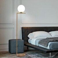 Современный светильник пола для Гостиная стеклянный шар светодиодный настольная лампа для Спальня прикроватная Украшения настольные ламп