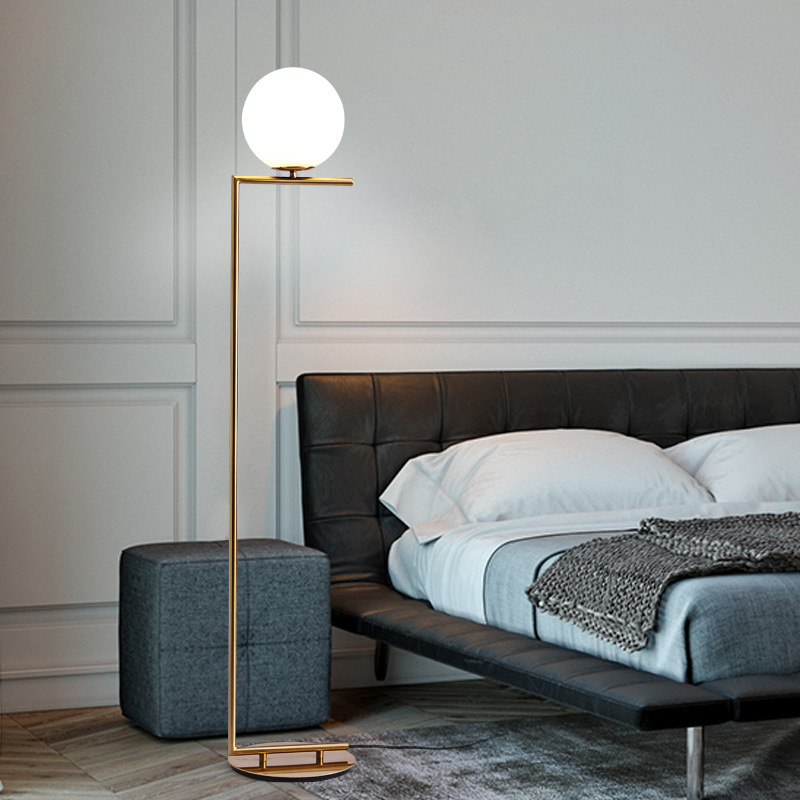 Modern Floor Lamp For Living Room glass ball LED Table Lamp For Bedroom Bedside Decoration Table Lamps modern wooden floor lamps bookshelf floor stand lights tea table standing lamp living room bedroom locker nightstand lighting