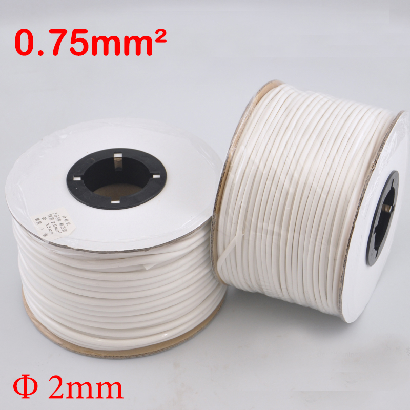 1roll 0.75mm2 PVC 2mm ID White Handwriting Ferrule Printing Machine Number Plum Tube Wire Sleeve Blank Cable Marker