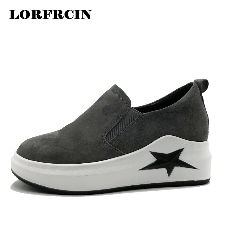LORFRCIN Spring Genuine Leather Shoes Woman Loafers Casual Platform Shoes For Women Creepers Women's Sneakers Chaussures Femme phyanic 2017 gladiator sandals gold silver shoes woman summer platform wedges glitters creepers casual women shoes phy3323