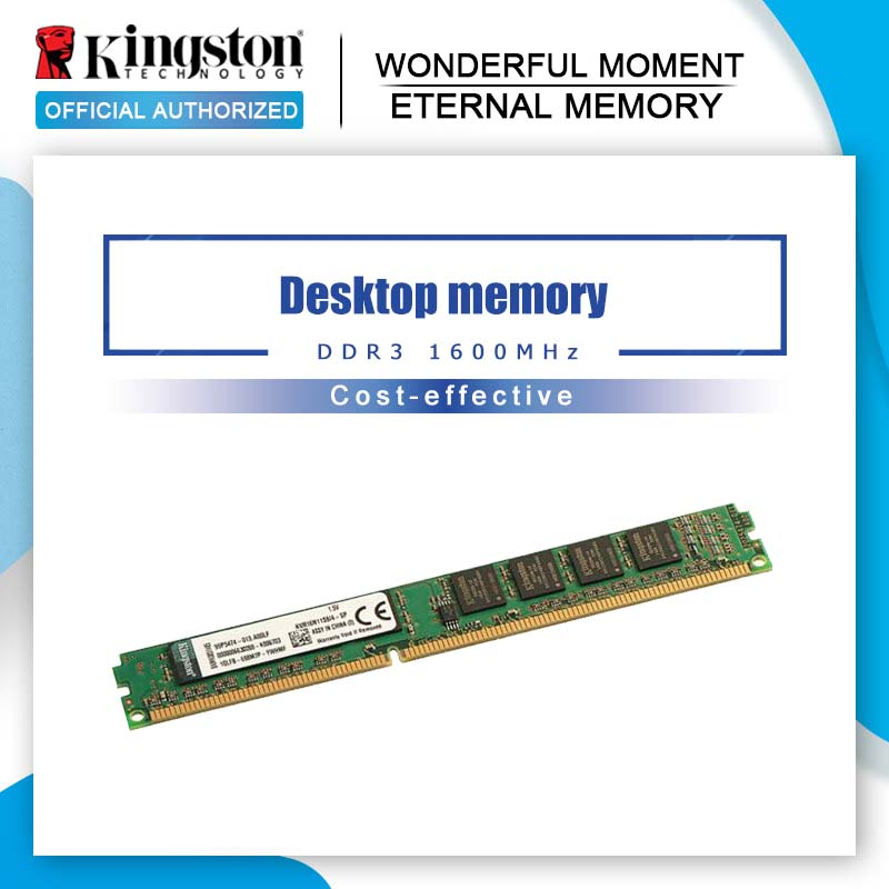Kingston-Memoria RAM Original para ordenador de escritorio tarjeta madre DDR3 (PC3-12800) de 1600 Pines, 2GB, 4GB, 8GB, Intel DIMM, 240 MHz