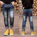 Дети мальчик джинсы 2017 новая весна и осень мальчик ребенок джинсы брюки прилив большие девственные брюки Корейских мальчиков джинсы