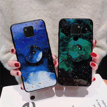 luxury gold foil bling phone case for Huawei mate 20 10 pro 20pro 10pro glitter cloud holder stand back cover fundas capa coque