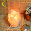 Transporte marítimo Local auténtica ajustable lámparas de cristal de sal lámpara de mesita de noche dormitorio luz de la noche creativa Binglie