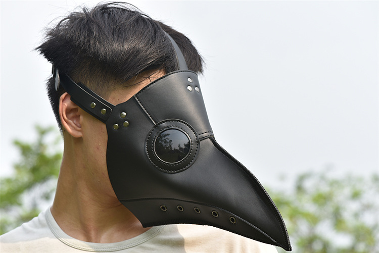 Plague Doctors Mask Pu Leather Clear Resin Lenses Beaked Face Masks For Halloween Steampunk Costume Party Caribbean Masks In Pain
