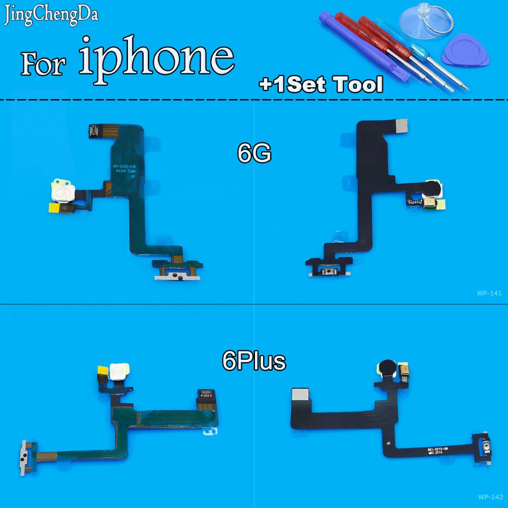 Jing Cheng Da Switch On Off Power Proximity Light Sensor Flex Cable Replacement for iPhone 6 6G 4.7 6Plus 5.5+Tool