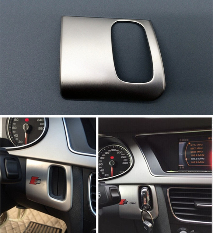 stainless steel keyhole panel cover trim S/S line logo Car styling interior decoration sequin 3D sticker Audi A5A4 09-16 - MS 4F Global store