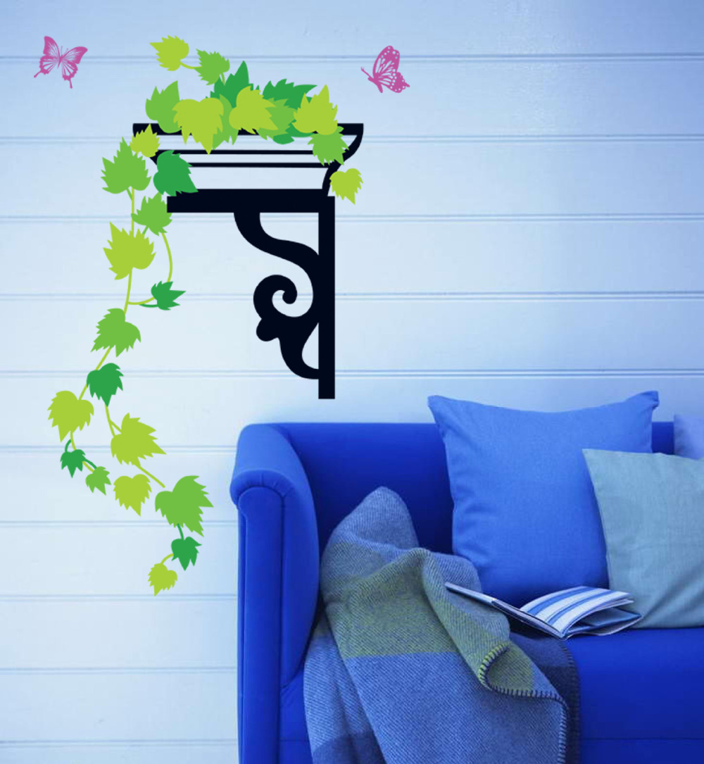 Romantic Butterfly Green Fence Font