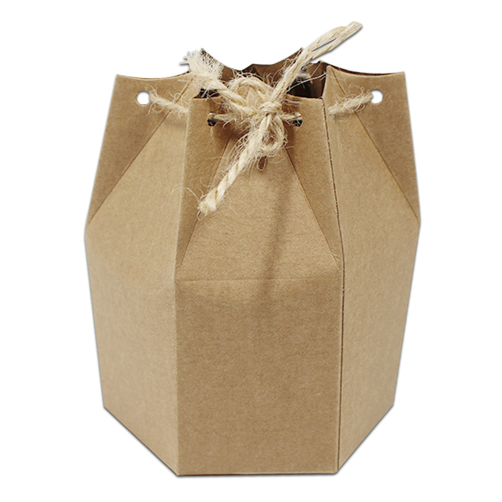 4 5 9 11cm Gift Packaging Paper Box Vintage Brown Party