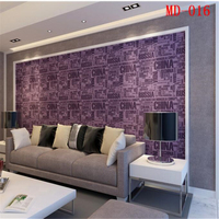 beibehang 3D English letter waterproof wipe men and women clothing store bar table PVC wallpaper background wallpaper