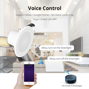 Image 5 - Home Automation 6 inch WiFi Bulb Led  Downlight 14w Voice Control by Alexa Echo Dot Spot Show Google Home Assistant IFTTT