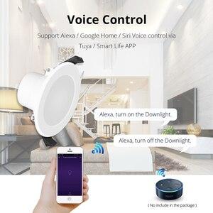 Image 5 - Home Automation 6 pollici WiFi Lampadina Da Incasso A Led 14 w Controllo Vocale da Alexa Echo Dot Spot Mostra Google Casa assistente di IFTTT