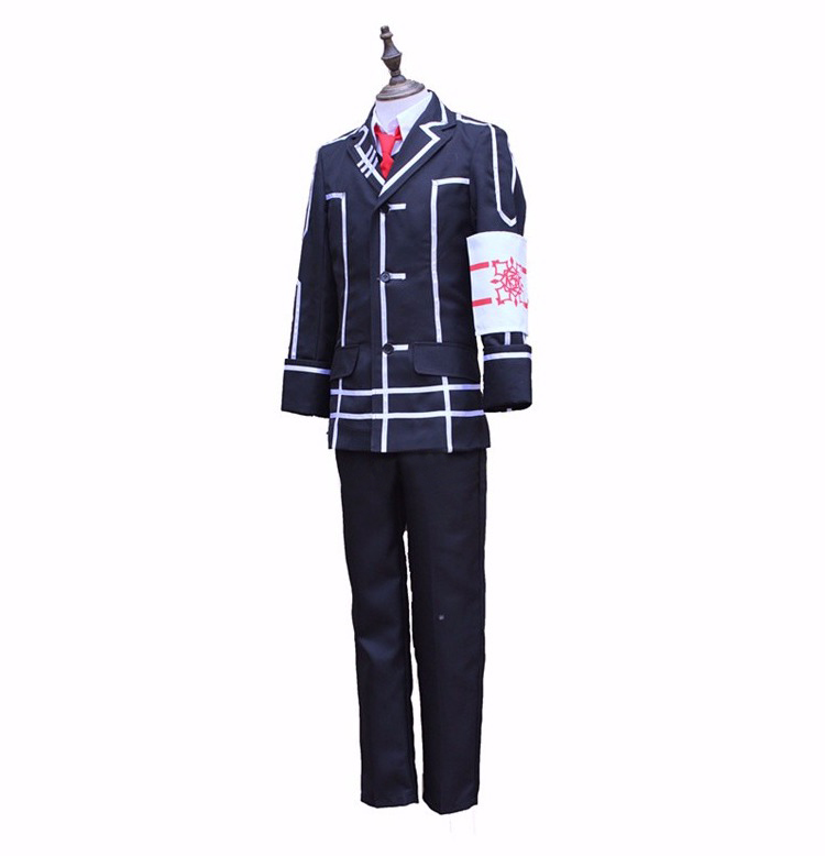 Vampire Knight Kiryu Zero Day Class Black School Uniform Cosplay Costume Vic Mignogna Outfits Halloween Party Costumes