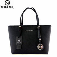 MICKY KEN Brand New 2017 Women Handbags Big Pu Leather High Quality Letter Female Bag Designer