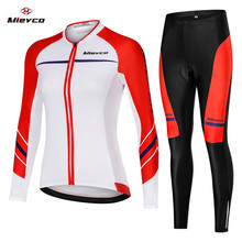 2019 Long Sleeve Women Breathable Cycling Jersey Set Men MTB Bike Clothing Bicycle Clothes Female Ropa Ciclismo Sport Suit Race blue cycling women set long sleeve women bike clothing winter ropa ciclismo cycling jerseys suit pink bicycle riding clothes