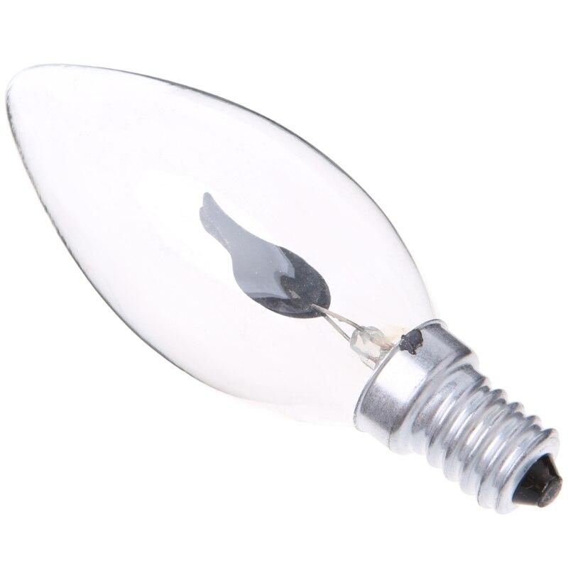 E14 3W Edison Filament Candle Flicker Light Bulb Fire Flame Tail/Tipped Retro Decor Lamp