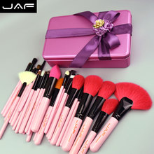 pink Makeup Brush Set Natural animal Hair Makeup Brushes 32 pcs with Gift Birthday Gifts Make up brushes for mom or girl friend