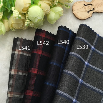 Korea południowa odzież modne tkaniny wełny wełny garnitur w kratę materiałowe spodnie spódnica szorty DIY