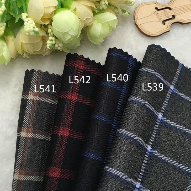 South Korea clothing fashion fabric wool Wool Plaid suit cloth pants vest skirt shorts DIY