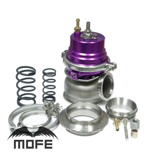 HIGH QUALITY Adjustable External 60mm External V Band Wastegate With Spring Flange Purple adjustable external 60mm v band external wastegate